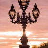 Paris pictures – Fancy lamp on Pont Alexandre III