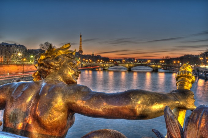 Paris Pictures Alexander III bridge statue